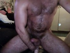 Stud playing vidz roughly with  super his Dildo