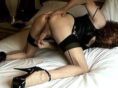Carol C. vidz Bedroom Spread  super in Platform Whoreheels