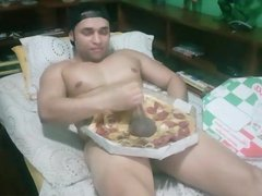 Balls of vidz pizza with  super a HOLE lota meat & cream