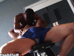 Sub muscle vidz hunk joins  super interracial duo in trio
