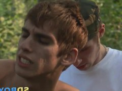 Jizzed twink vidz spunks mouth