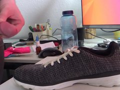 Shooting my vidz load on  super pair of girls trainers