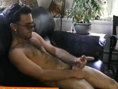 Jerking off vidz latin hunk  super receives some help from DILF