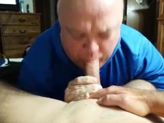 My Str8 vidz cock sucked  super by CL old man again! Swallow my cum