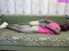 Fishnet bodyhose vidz in socks  super tied