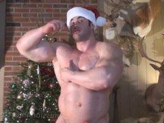 Big Max vidz Merry Muscle  super Christmas show his ass