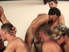 Military dudes vidz in horny  super sex orgy in their barracks