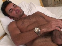 Hairy latino vidz stud loves  super to jerk off when he's home alone