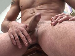 Tattooed surfer vidz dude gives  super a hot striptease and jerks off