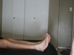 Teen Twink vidz Cums 6  super Feet Of Cum Through His Step Dads Toes Feet