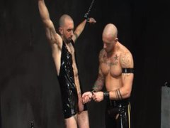 Leather skins vidz rough fuck  super with piss and ass play