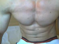 Muscle guy vidz bulging in  super boxers and jerking