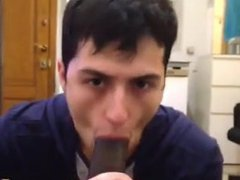 White young vidz Mexican sucking  super BBC and eating cum