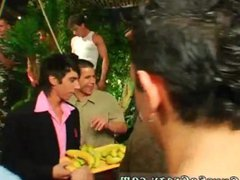 Worlds boy vidz anal gay  super sex xxx Dozens of guys go bananas for bananas at this