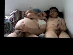 Hot Asian vidz and hot  super white chub having fun