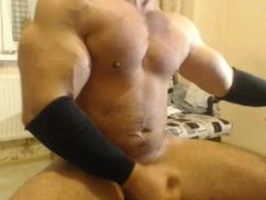 Romanian Bodybuilder vidz - Quick  super JO and Cum