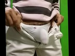 Marcando mi vidz Bulto en  super mi Pantalón Blanco¡¡¡