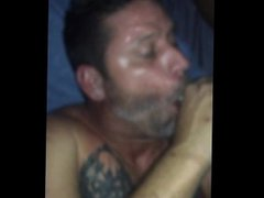 TSladyroxy shoves vidz her black  super cock in sexy white guy mouth