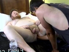 Leather master vidz and boy  super gay porn Sky Works Brock's Hole with his Fist