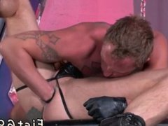 Sexy straight vidz men caught  super having gay sex first time Brian gobbles up a