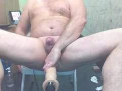 Huge Dildo vidz Machine nice  super angle up Joey D butthole