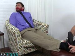 Hairy men vidz with red  super hairy legs gay Chase LaChance Tied Up, Gagged & Foot
