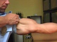 Cop Bodybuilder vidz Flexing Huge  super Muscles in uniform