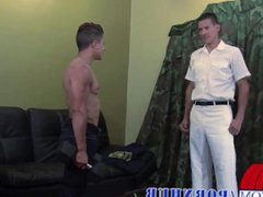 Officer and vidz military get  super and enjoy sincere army anal delectation