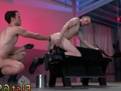Foot fisting vidz tgp gay  super Axel Abysse crouches on a going knuckle deep bench