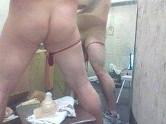 Joey D vidz pushing his  super long dildo up sweet curvy butt