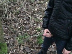 Fetish gay vidz boy is  super pissing and jerking outdoors