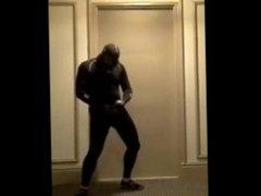 masked bicyclist vidz jerking off  super in hotel hall
