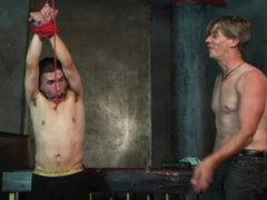 DILF gets vidz tied up  super and teased by his fetish boyfriend