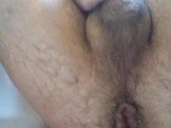 Faggot Kyle vidz Reinhardt shoots  super dildo out of his wrecked asshole