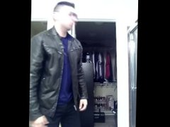 Don Stone vidz Sexy Leather  super In Levis Jeans Hot Latino In wearing Shades