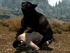 Gay Werewolf vidz and Human:  super Rough Doggystyle 2