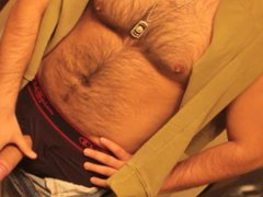 Don Stone vidz In Sexy  super Hot Outfit Hairy Chest In Jeans Masturbating To Porn 6