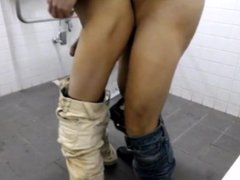 bareback fucking vidz with stranger  super in public toilet