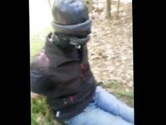 slave in vidz tied outdoor