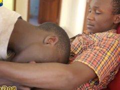 Ethnic africans vidz teens passionately  super sucking