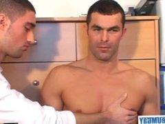 Nicolas, nice vidz innocent str8  super guy serviced his big cock in spite of him!
