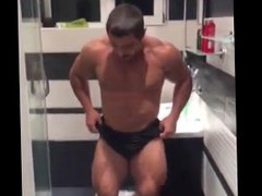 bathroom posing vidz show