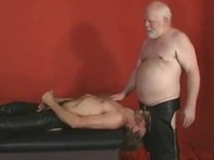 Leather Chubby vidz Daddy gets  super Fucked