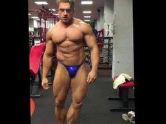 stud posing vidz in gym