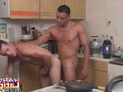 Latinos Ass vidz Fucking And  super Cumming In The Kitchen