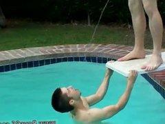 Pissing someone vidz ass gay  super hot teen boys shower Kaleb's Pissy Pool Party