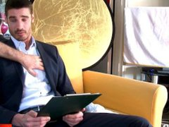 Stefan innocent vidz straight banker  super serviced his big cock by a guy!