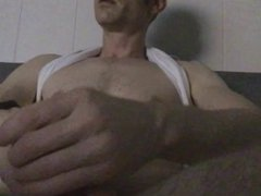 Stroking the vidz thick dick  super with fleshjack toy till he cums