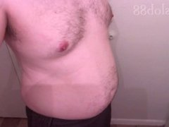 Shaking and vidz Showing off  super my chubby belly and body