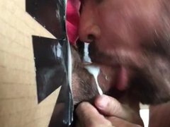 Curved Up vidz White Cock  super Pumps Out Load at Philadelphia Gloryhole
